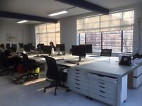 Desks available in bright Hackney warehouse