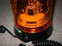 Flashing LUCAS amber roof light, BRAND NEW in box breakdown wagon, disco etc....12 & 24 volt