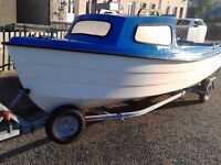 selling my fishing boat with trailer and out board