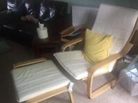 IKEA Poang armchair & footstool BRAND NEW