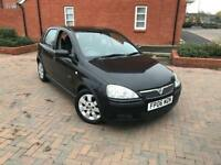 2006/06 VAUXHALL CORSA 1.2 SXI 1 LADY OWNER 5 DOORS BLACK