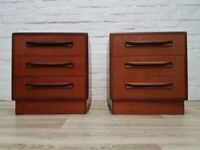 Pair Of G plan Fresco Bedside Cabinets (DELIVERY AVAILABLE)