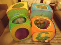 Pop up tent cubes for children - 4 cubes