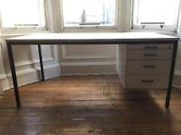 For Sale - Solid Office desk with 4 drawers - Used Condition - Collection only