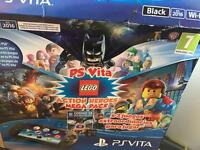 PS VITA PACKAGE PLUS 3 Lego GAMES! WIFI CONNECTION plus case RRP £199 USED ONCE BOXED