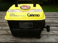 Petrol Generator, 650 watts. Excellent Condition, Portable, Quiet and Economical.