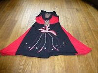 Size 10 red and black cotton dress barely worn