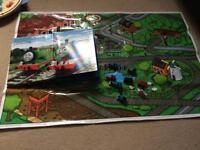 Thomas tank engine book mat and figures