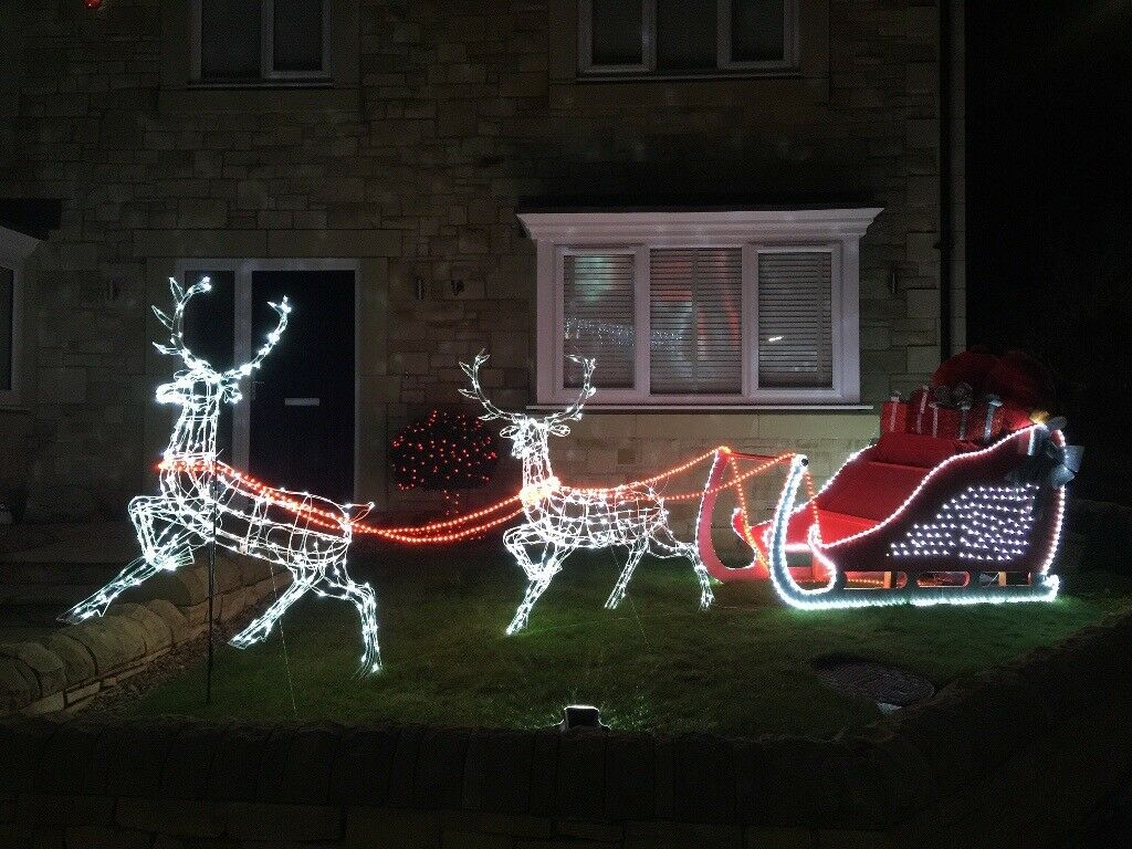 Outdoor Christmas Sleigh For Sale.Large Outdoor Christmas Sleigh With Lights In Sunderland Tyne And Wear Gumtree