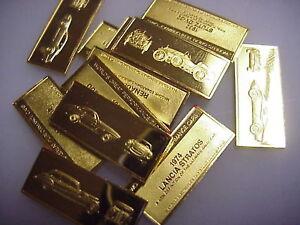 Franklin Mint Car 24k Gold Sterling Silver Bars Ingot