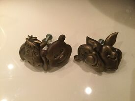 Disney Winnie the Pooh and friends metal drawer handles x 4