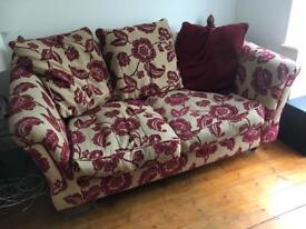 Ashley Manor Windsor Snuggle Sofa Loveseat Couch Cream Maroon Laura Ashley - diy project!
