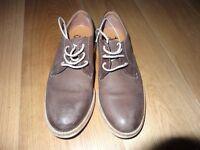 Clarks Walnut Nubuck Shoes