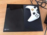 xbox one 500gb console with one controller & all relevant cables , works perfect ! price stands !