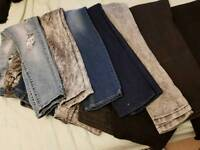 7 pairs of jeans. £3 each