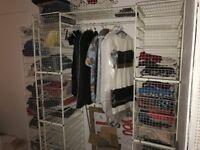 Wire frame wardrobe.