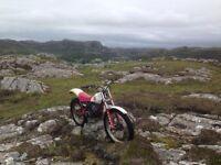 Yamaha ty250 Pinky mono shock trials bike