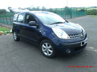 Nissan Note 2007 1.6 SE Manual Petrol.