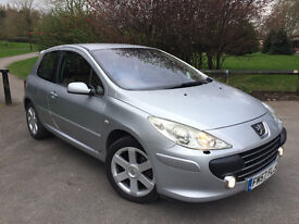 2007 (07) Peugeot 307 2.0 Feline 3dr *Limited Edition* Tan Leather, FSH, Sat Nav