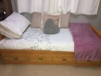 Sterling Furniture Single Bed with Pull-Out Bed and Chest of Drawers