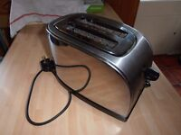Chrome Toaster 2 slice. Auto timer