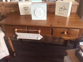 Solid Pine 3 Drawer Dressing Table / Desk