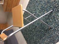 Folding high stool light wood/silver collect Gateshead