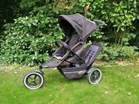 Phil and Teds double buggy black and grey - Explorer