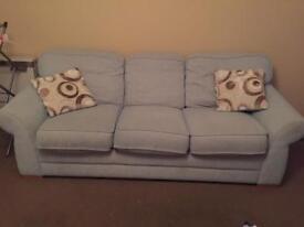 Three Seater Sofa w/ Cushion x 2