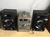 HITACHI SOUND SYSTEM & SONY SPEAKERS