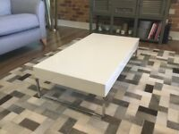 DWELL White Gloss Coffee Table. Used