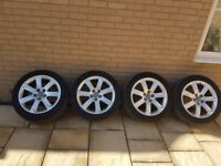 Audi A7 wheels + 4 tyres. 2 of the tyres are still usable!