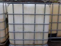 Used IBC tanks for sale. 1000L each