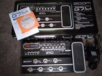 Zoom Guitar Multi Effects Unit G7.1ut with expression foot pedal