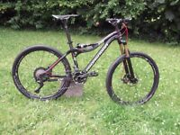 pronghorn , carbon full suspension bike. new, small.