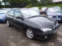Renault Megane fidji 16v,1598 cc,5 door hatchback,2 owners,clean tidy car,runs and drives well,