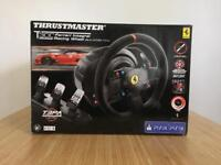 Thrustmaster T300 Ferrari Alcantara Edition Steering Wheel Bundle with T3PA Pedals
