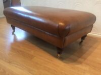Bespoke Aniline Leather MOSELLE footstool