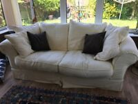 FREE DFS CREAM FABRIC SOFA