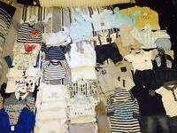 Newborn boys clothes up to 1 months 64 items