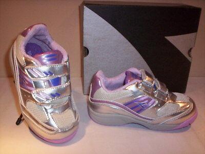 Mädchen-silber-schuhe (Diadora Lunar Sportschuhe Gymnastik Turnschuhe Mädchen Silber Schuhe 21)