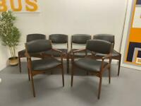 Mid Century Retro Danish Style Dining Chairs