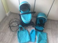 Oyster 2 Travel System in turquoise