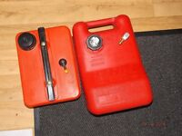 Outborad engnie fuel tanks x 2 one with fuel gauge