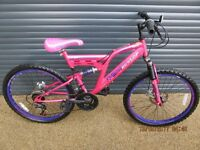 CHILDS DUNLOP SPECIAL EDITION SUSPENSION BIKE IN EXCELLENT USED CON DITION.. (SUIT APPROX. AGE. 9+).