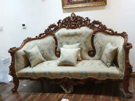 Brand new carved empire sofa & chair.....