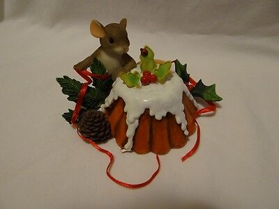 Charming Tails Happy Holidays Puddin' Pie Mouse Figurine Special Edition 98/495