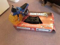 Hamtrack hamster race track and motorctcle