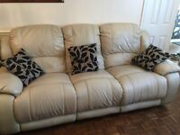 6 seater recliner leather sofas