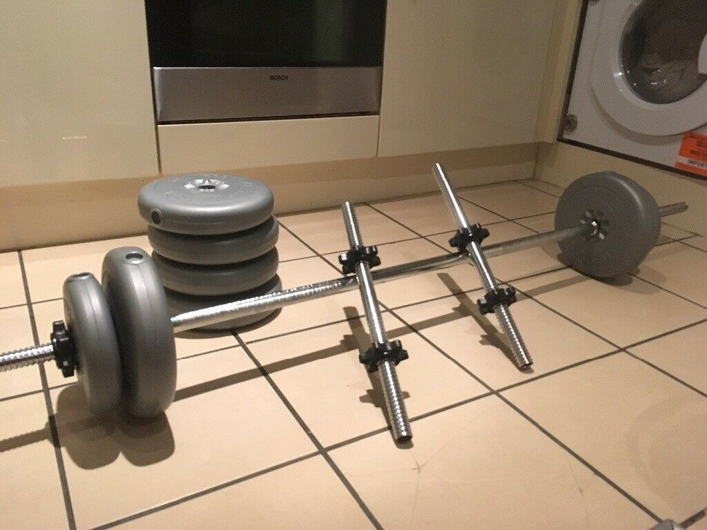 Great Weight set + bars + abs machine